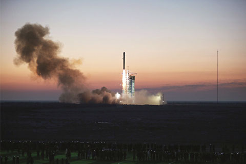 A Long March II rocket carrying the dark matter detector Wukong blasted off from the Jiuquan Satellite Launch Center in the northwestern province of Gansu on December 17
