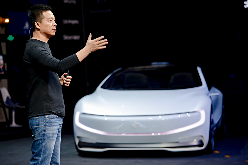 Faraday Future owner Jia Yueting reiterated on Tuesday that the electric carmaker won't give up on its Nevada plant, but the cash-strapped company's priority is to get its first model to market as soon as possible.