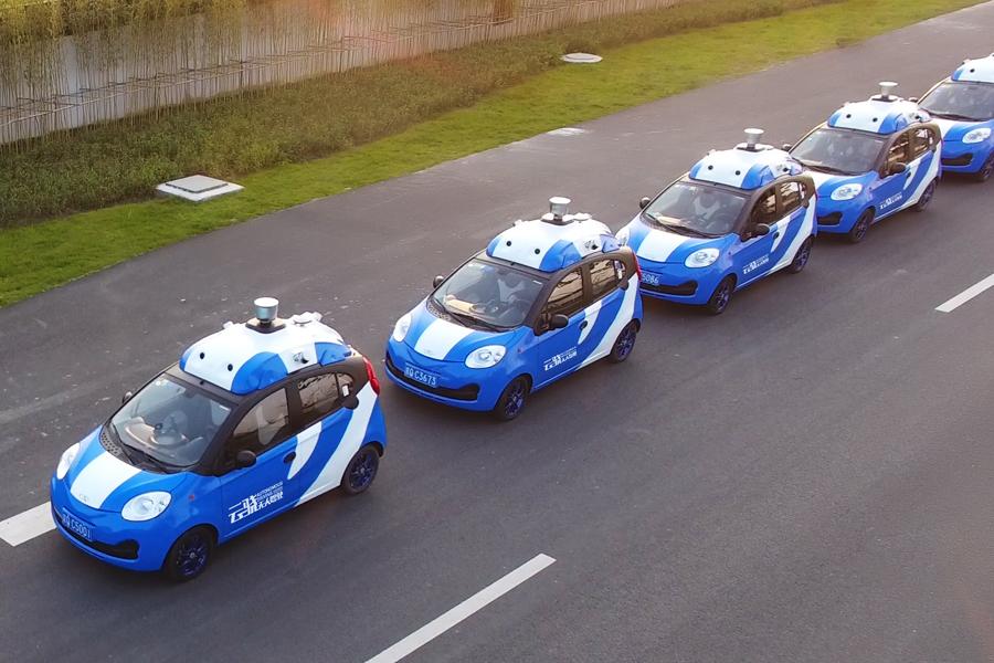 Baidu showcases autonomous cars this week in Wuzhen, near Shanghai. Photo: Baidu Inc.