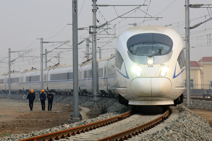 A CRH (China Railway High-speed) bullet train heads to a maintence station in Xi'an, Shaanxi province on Dec. 13. China Railway Corp., operator of the world's biggest rail system, faces business challenges as it struggles with shifting tastes in travel and trillions of yuan in debt. Photo: IC