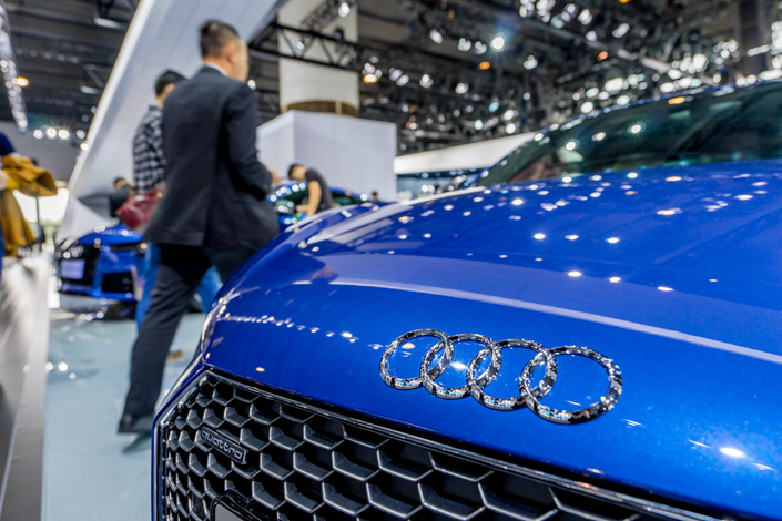 An Audi car is displayed during the 14th China (Guangzhou) International Automobile Exhibition in Guangzhou, Guangdong province, on Nov. 25. This year has already been tough on the German automaker, whose future in China looks increasingly uncertain. Photo: IC