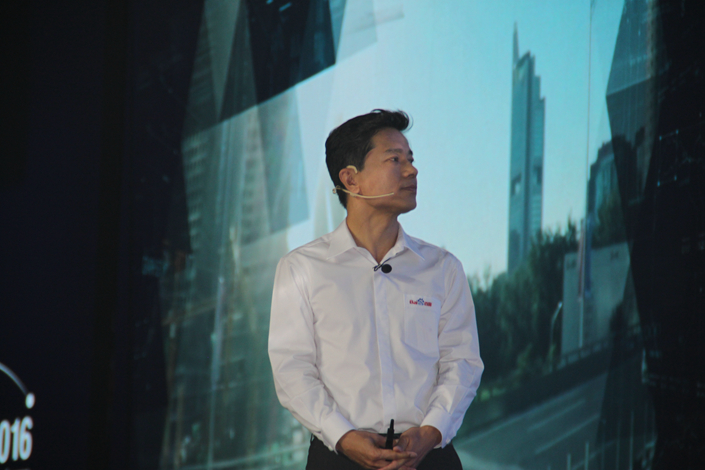 Robin Li, Baidu Inc.'s founder, chairman and chief executive officer, attends the Baidu Technology Innovation Conference in Beijing on Sep. 1. Baidu, once China's largest internet company, faces competitive challenges while still reeling from last year's advertising scandals. Photo: Visual China