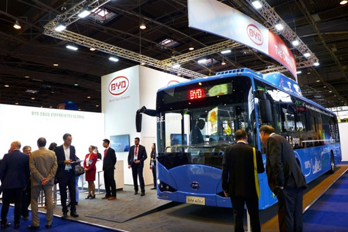 Chinese car manufacturer BYD plans to invest 10 million euros in an electric coach assembly factory in northern France. Photo: BYD