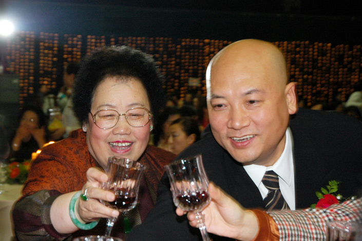 Chen Lihua with husband Chi Zhongrui. Chi is a Chinese actor best known for his role as the wondering Tang Dynasty monk Xuanzang in the 1986 television series Journey to the West. The couple married in 1990. Photo: Visual China