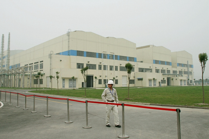 Westinghouse Electric Co., a major U.S. nuclear-equipment maker almost wholly owned by Japan's Toshiba Corp., inaugurates a joint-venture plant in Nantong, Jiangsu province, on June 8, 2012, to produce rare metal materials for use as cladding in nuclear fuel rods. Photo: IC
