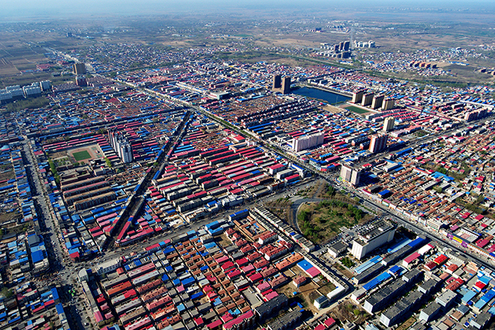 An aerial view of Xiongxian, Hebei province, on April 1, 2017. Research institutes affiliated to government ministries will be among the earliest to move to China's new economic zone. Photo: Xinhua