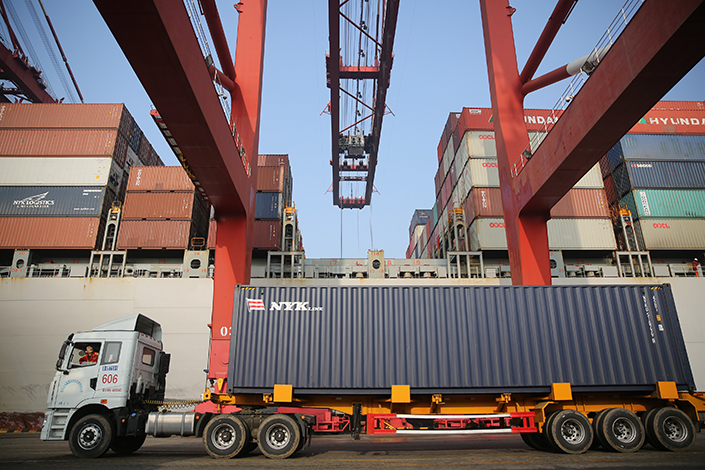 The Qingdao Qianwan Bonded Port Area is seen on March 22. The Belt and Road Initiative has the potential to lift developing countries out of poverty by investing in their infrastructure. Photo: Visual China