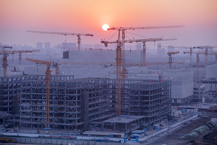 A construction site in the Tongzhou district of Beijing, China, on Feb. 11, 2017. Photo: Visual China