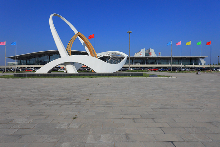 Shijiazhuang Zhengding International Airport is the closest airport to the Xiongan New Area. The Civil Aviation Administration of China plans a new terminal in Xiongan where passengers whose flights take off from Shijiazhuang can obtain boarding passes and check in baggage before taking a shuttle or high-speed train to the airport. Photo: Visual China