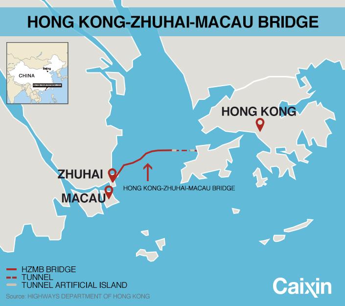 Macau On World Map.17 Billion Causeway Linking Hong Kong Macau And Chinese Mainland
