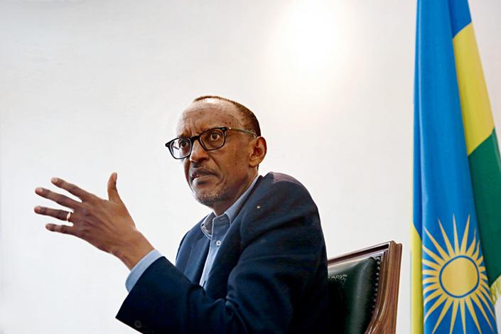 Rwanda's president Paul Kagame. Photo: Qiu Jiaqiu/Gong Gao/Caixin