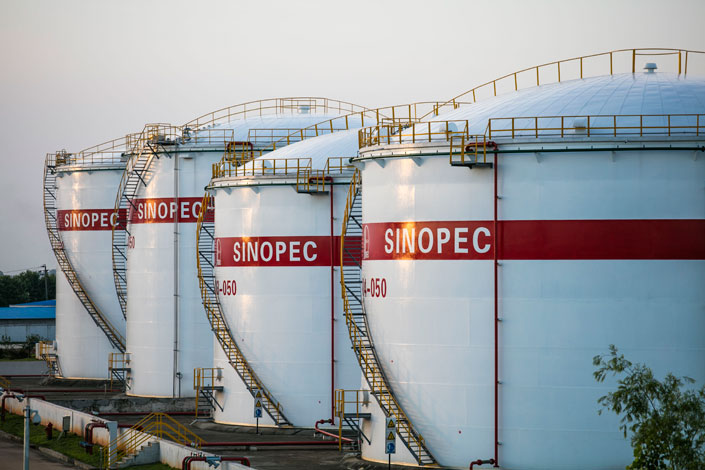 Oil tanks are pictured at a Sinopec refining plant  in Jiujiang city, Jiangxi province. Sinopec on Friday agreed to buy BP's 50% share of Shanghai SECCO Petrochemical Co. Ltd. Photo: IC