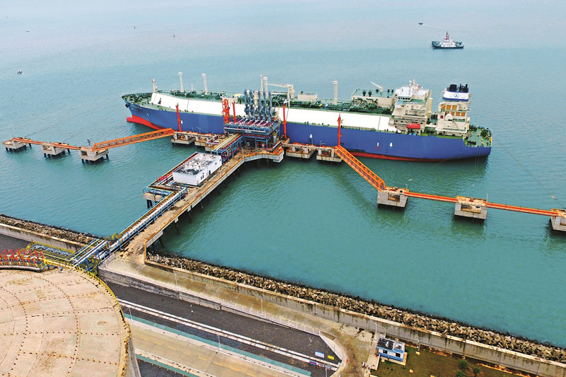 An LNG terminal operated by Sinopec in Guangxi. Photo: Visual China