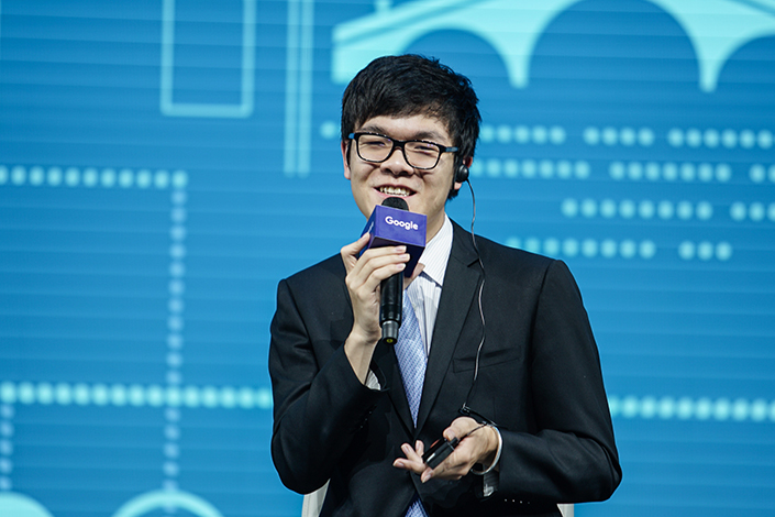 Chinese Go player Ke Jie speaks after being defeated by Google's artificial intelligence (AI) program, AlphaGo, in the second game of the Google DeepMind Challenge Match during the Future of Go Summit in Wuzhen, Jiaxing, in east China's Zhejiang province, on May 25. Photo: IC
