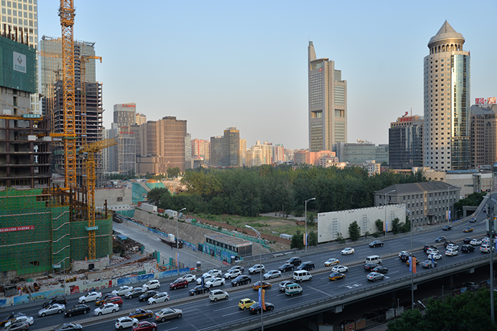 The Z3 plot was seen as the most valuable land of the CBD area in East Third Ring Road of Beijing, which is still undeveloped space. Photo: Ma Minhui/Caixin