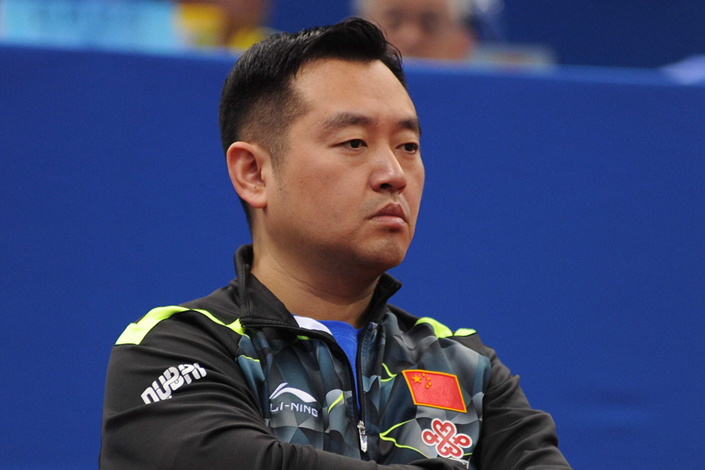Coach of Chinese women's national table tennis team Kong Linghui. Photo: IC