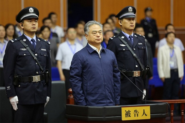 The Intermediate People's Court of Zhengzhou in central China's Henan province announces that Wu Changshun, a former senior political adviser and deputy head of the public security bureau of the northern city of Tianjin, was sentenced to death with a two-year reprieve for graft, on May 27.