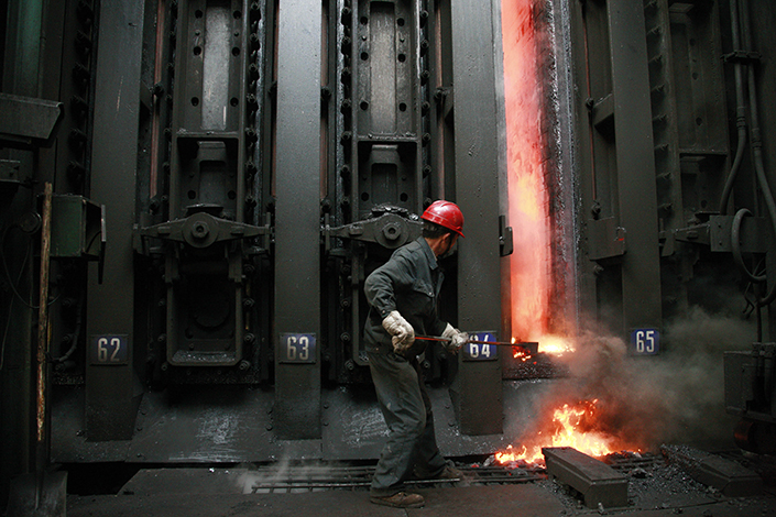 A coke oven in Huaibei, Anhui province. China's manufacturing activity contracted for the first time in 11 months in May. Photo: Visual China