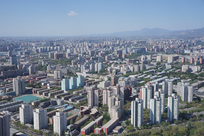 Sales and prices of pre-owned homes in Beijing reflected a downward trend in May. Photo: Visual China