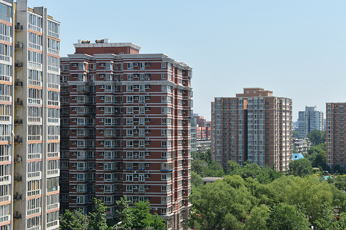 A view of residential buildings in Haidian district, Beijing, on June 1. May's new-home supply in first-tier Chinese cities was down 50% month-on-month and from a year ago. Photo: IC