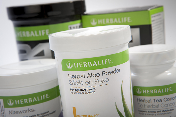 Herbalife Ltd. products are arranged in New York, U.S., on Jan. 10, 2013. Photo: Visual China