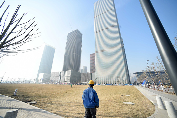 """Tianjin Binhai New Area Construction and Investment Group Co. Ltd.'s $800 million in bonds have slipped into """"technical breach,"""" but the company has not missed any payments. Above, the Tianjin Binhai New Area is seen in January 2016. Photo: IC"""