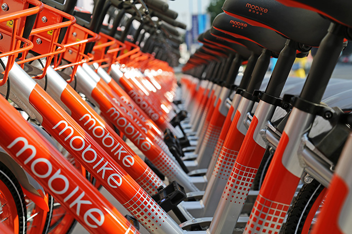 Mobike has announced $600 million in new funding as it prepares for the next stage of an intense bike-sharing battle in China and cities beyond. Photo: IC