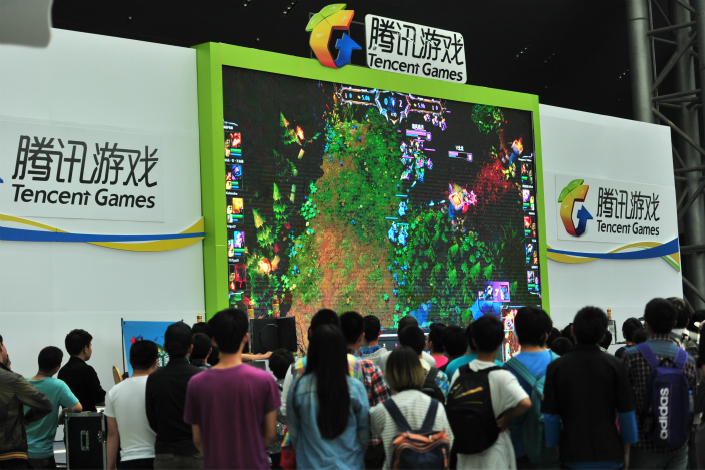 Under a new plan, Tencent aims to create a 100-billion-yuan esports industry in China within five years. Photo: Visual China
