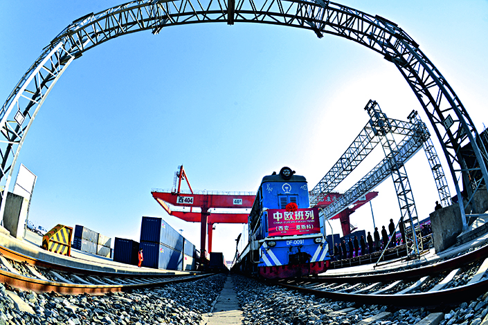 China Railway Corp. is trying to overhaul the fragmented China Railway Express system, and hopes to make changes in pricing and information sharing across its routes. Above, the China Railway Express prepares to leave its new station in Xi'an, Shaanxi province, for Moscow on Dec.16, 2016.  Photo: Visual China