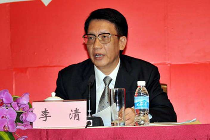 Li Qing, the former head of Guangdong province's environmental protection bureau, pleaded guilty in Shenzhen on Friday to accepting bribes worth millions of yuan. Photo: Guangdong provincial government