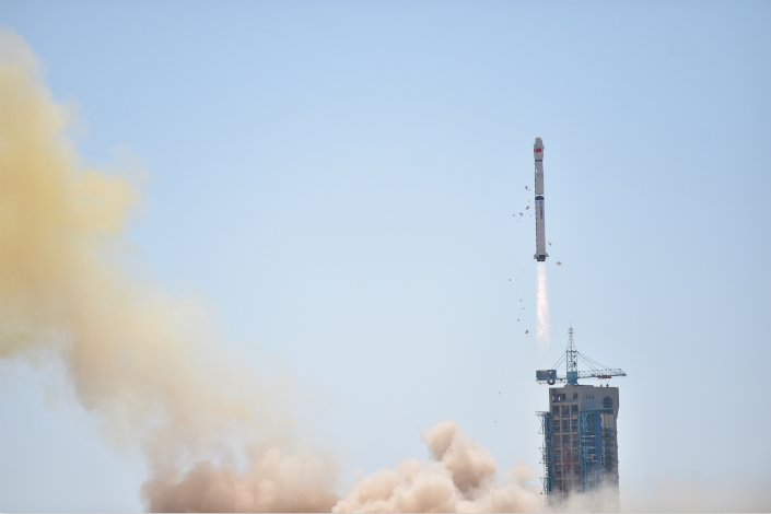 China has only about a dozen commercial space enterprises, but the nascent field has already attracted significant investor attention. Above, a Long March 4-B rocket carrying the Hard X-ray Modulation Telescope blasts off from the Jiuquan Satellite Launch Center on June 15. Photo: Visual China