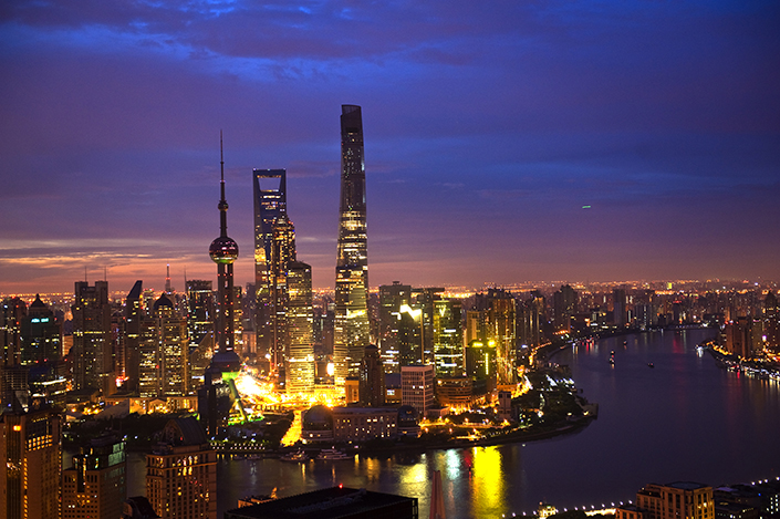A view of Shanghai, including the Huangpu River, on July 4. Photo: Visual China