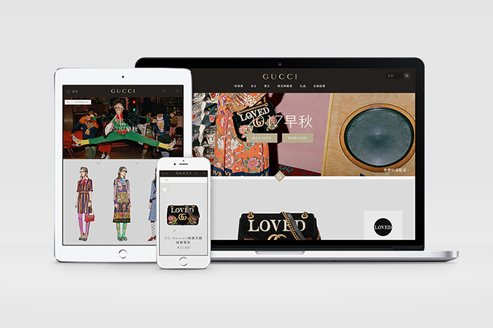 Gucci's new online store will cater to the many Chinese customers who don't live in one of the country's largest cities. Photo: Gucci