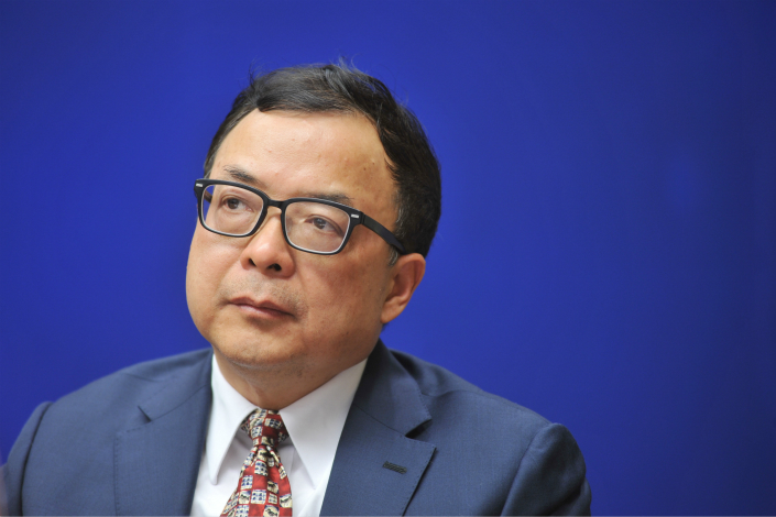 Chen Wenhui, vice chairman of the China Insurance Regulatory Commission, says that the country's insurance industry still faces a liquidity risk because of several aggressive insurers. Photo: Visual China