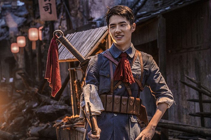 """Teen idol Liu Haoran plays Su Yue, one of the leaders of People's Liberation Army of China, in the blockbuster film """"The Founding of An Amy."""