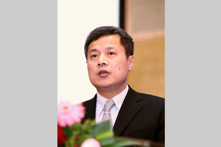 Lin Xiaoxuan (pictured in Beijing in 2010) is a senior executive at China Minsheng Bank who is now targeted in an anti-corruption campaign. Photo: IC