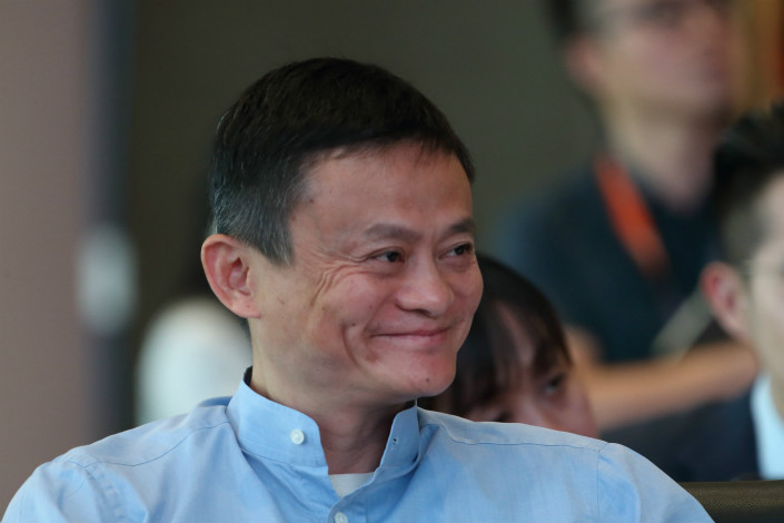 E-commerce giant Alibaba's five-story shopping mall, currently under construction in Hangzhou, is part of the company's  strategy to blend online, offline, logistics and data across a single value chain, Alibaba founder (above) Jack Ma said earlier this year. Photo: IC