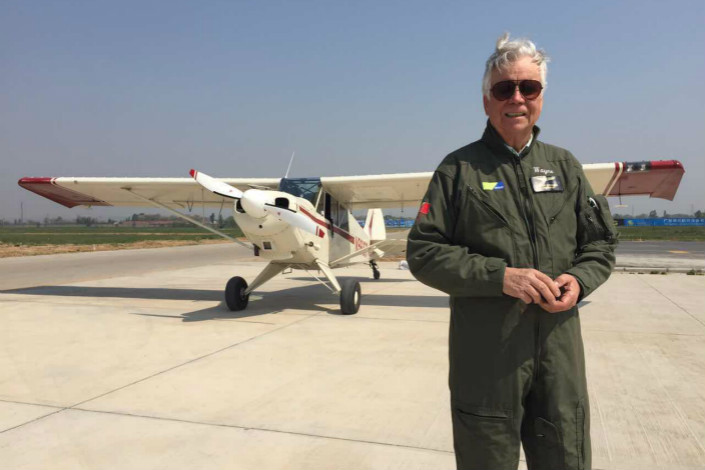 Wayne Mansfield, managing director of Clear Sky Ltd., attends the China International Aviation & Aerospace Exhibition in Zhuhai, Guandong province. Mansfeld called the air shows in China