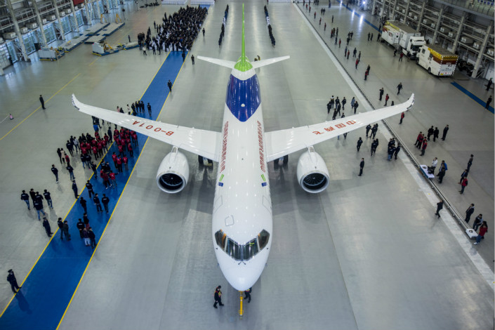 The narrow-body C919 is China's first single-aisle large passenger aircraft built in accordance with international civil aviation regulations.