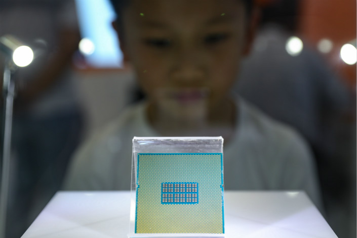 Canyon Bridge Capital Partners' move to buy U.K. chipmaker Imagination may stand a better chance of closing than the Chinese group's vetoed attempt to acquire U.S. firm Lattice, as the European Union lacks a framework to review such deals on national security grounds, an analyst told Caixin. Photo: Visual China