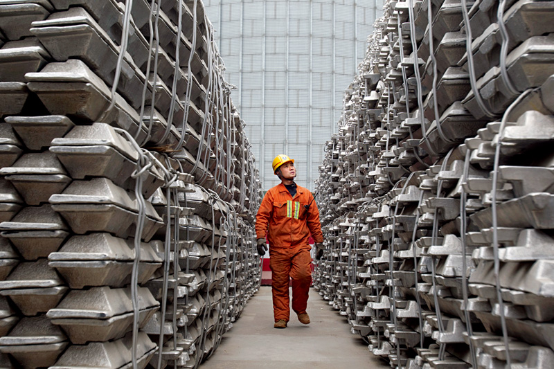 "Aluminum Corp. of China, which has a plant in the Guangxi Zhuang autonomous region (pictured), issued a statement on Aug. 9 warning of ""investment risks"" after the spot price of aluminum in Shanghai jumped by 4.03% in a single day on the back of a rally in aluminum prices. Photo: Visual China"