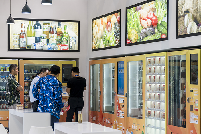 Although the number of traditional convenience stores in China has tripled since 2009, staff costs remain an issue. To lower these costs, the industry is looking at staffless convenience stores. China hosted its first industry expo (pictured) for the automated shops in September in Shanghai. Photo: IC