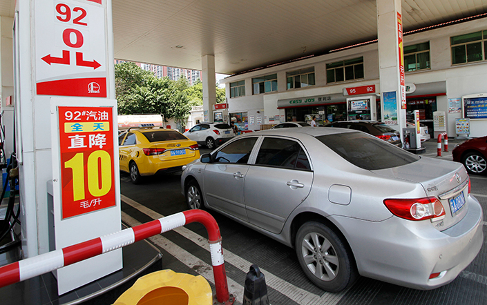 Although China's state-owned oil giants have dominated the country's gas station market, stations owned by private companies still accounted for 47% in 2015. Photo: IC