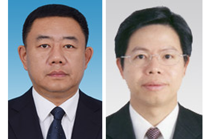 Li Xinran (left) has been a member of both central and regional corruption detection bodies, while Lin Guoyao has spent his entire official career working in government posts in Fujian province.