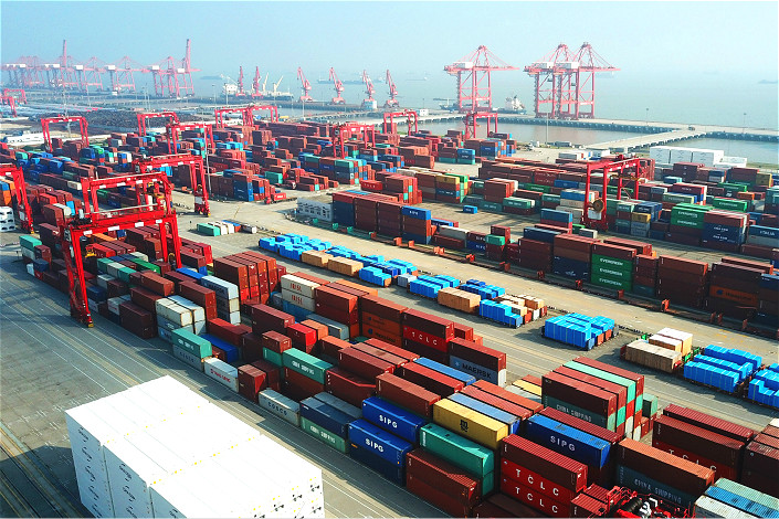 China's goods trade remains