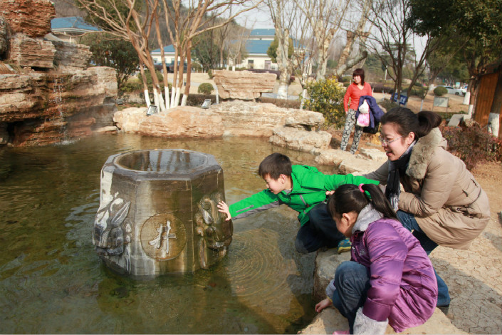 "Tangshan Hot Springs (above), near Nanjing, was designated a national tourism destination in 2015. Its Mandarin name means ""soup mountain."" Photo: IC"