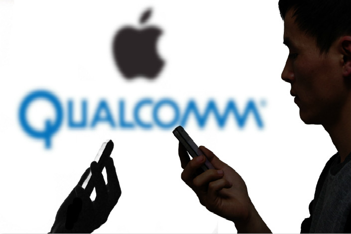 The legal wrangling between Apple Inc. and Qualcomm Inc. began in January, when Apple sued Qualcomm in a U.S. federal court in California, claiming the chipmaker was abusing its market dominance. Photo: Visual China