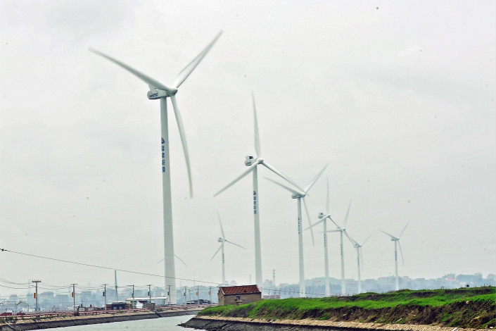 As of late 2016, China Three Gorges was operating offshore wind power facilities with a combined installed capacity of 600,000 kilowatts. Photo: Visual China