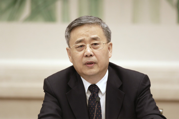 Top banking regulator Guo Shuqing said that the decreasing market share of foreign banks is not a good sign in terms of competition. Photo: Visual China