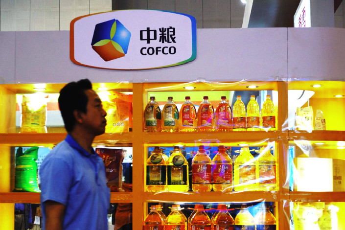 A COFCO employee said that the firm is undergoing a major restructuring that will see its many scattered subsidiaries arranged into 18 firms with clearer focuses on different sectors. Photo: IC